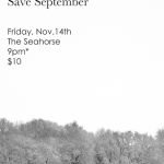 Heavy Meadows, Amelia Curran, and Save September - The Seahorse, Halifax, Nova Scotia