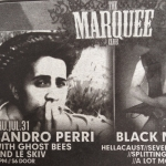 Coast Ad for the Sandro Perri Show at The Marquee Club
